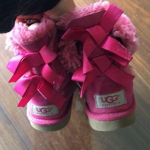 Kids Bailey pink uggs